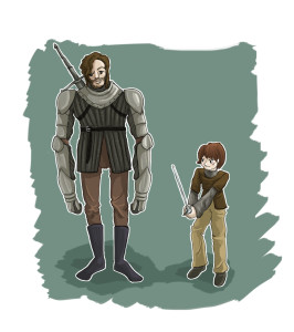 arya & hound colour shading background