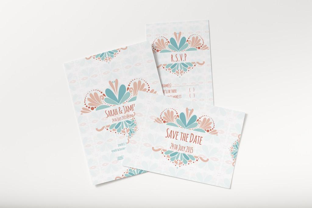 Pattern Wedding invite
