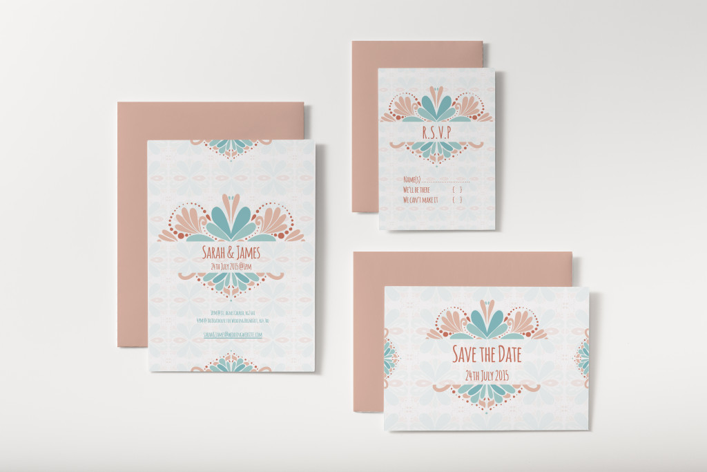 Pattern Wedding invite All